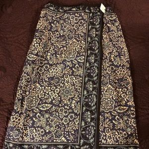 Blue Paisley Wrap skirt Sz 12P